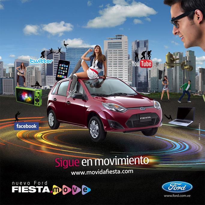 Ford Fiesta Move advertising anuncio surealista su