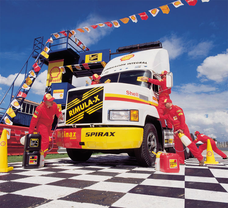Shell Spirax racing truck camion de carrera pit cr