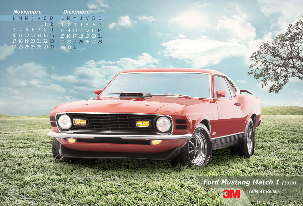 mustang mach 1 3M classic muscle car